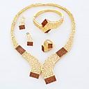 2015 Браун ожерелье серьги кольцо Браслеты Женщины красоты Позолоченные африканские Прекрасной Даме Ювелирные наборы