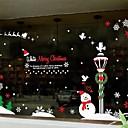 Новогоднее украшение Снеговик ПВХ оконные наклейки