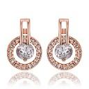 Мода-жа Покрытие розового золота серьги с бриллиантами