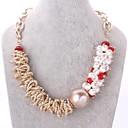 Творческий моды и личность г-жа 18K золото обшивки кристалл ожерелье