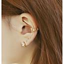 Мода формы цветка сплава уха манжеты (золото, розовый, серебристый) (1 шт)