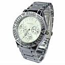 Женская Алмазный Fashion Круглый циферблат сплава группы Кварцевые часы (разных цветов)