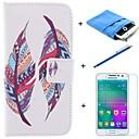 Цветовое оформление Перья PU кожаный чехол для всего тела с пером и кино Мягкий чехол для Samsung Galaxy A5 / A5000
