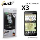 Высокая прозрачность HD ЖК-экран протектор для HTC Desire 501 (3 шт)