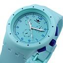 Женская мода Sprots Часы Желе силиконовой лентой Круглый циферблат цвета радуги (разных цветов)