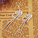 Мода горный хрусталь сердце Сплав серебра Серьги для женщин (1 пара)