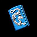 Изысканный Blue Dragon Яркий Хром Керосин зажигалка