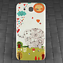Drill and Forest Elephant Pattern PC Back Cover Case for Samsung Galaxy Mega I9152