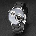 Мужская V6 армия Дизайн Двухместный Время силиконовый ремешок кварцевые часы