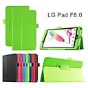 protectora casos Tablet funda de cuero casos soporte para lg g almohadilla f 8,0
