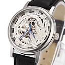 Мужские часы Авто-механический скелет полые Гравировка