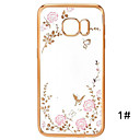Secret Garden Series TPU Phone Shell Plating for Samsung Galaxy S5/S6/S6 Edge/S6 Edge Plus/S7/S7Edge