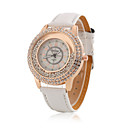 Ladies' Wrist Watch Korean Fashion Boutique Ball Diamond Rose Gold Case With a Quartz Watch PU(Assorted Colors)