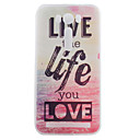 TPU Material Love and Life Painted Pattern Soft Phone Case for Asus ZenFone Max ZC550KL