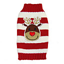Dog Sweater Red Dog Clothes Winter Stripe Christmas