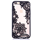 Lotus Pattern Embossed Printing Transparent Hollow Acrylic Material TPU Phone Case for iPhone  7 7Plus 6S 6plus SE 5S
