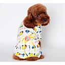 honden Outfits / Pyjama Geel / Blauw / Roze Hondenkleding Winter / Lente/Herfst Bloem Houd Warm /