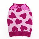honden Jumpsuits Roze Hondenkleding Winter / Lente/Herfst Harten Schattig / Houd Warm /