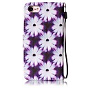 Purple Flower Painted PU Leather Material of the Card Holder Phone Case for iPhone 7 7plus 6S 6plus SE 5S