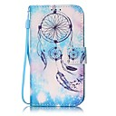Blue Campanula Painted PU Leather Material of the Card Holder Phone Case for iPhone 7 7plus 6S 6plus SE 5S