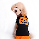 Dog Sweater Yellow / Black Dog Clothes Winter Fruit Halloween