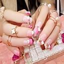 manicure terminou noiva unhas falsas remendo falso prego 24 manicure produtos pêssego unhas