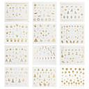 12 Nail Art Sticker Decalques de transferência de água maquiagem Cosméticos Prego Design Arte