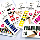 24 Style Waterproof  Nail Art Sticker Patch  Non Toxic High Shine High Quailty DIY Manicure Beauty Makeup Tools