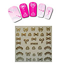 1sheet  Gold Nail Stickers XF6035