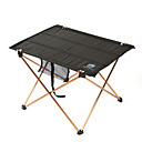 AOTU® Portable Picnic Table Black Hiking Camping Beach Fishing Traveling Outdoor Autumn Oxford Folding Desk BBQ Barbecue Tea Gate-Leg Alloy