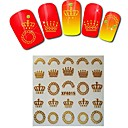 1sheet  Gold Nail Stickers XF6015