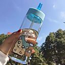 przejrzyste kreskówki do przejechania Drinkware odkryty, 500 ml przenośne szczelne sok szkło nowością wody Szklanka tumbler