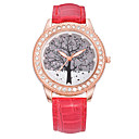 Candy Color Patent Leather Fashion Watches Set Auger Wishing Tree Fashion Leisure Joker Ms Quartz Watch