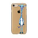 Für Transparent Muster Hülle Rückseitenabdeckung Hülle Tier Weich TPU für AppleiPhone 7 plus iPhone 7 iPhone 6s Plus iPhone 6 Plus iPhone