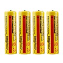 4Pcs 5000mah 3.7V 18650 Protected Rechargeable Lithium ion Battery for Led Flashlight Torch Headlamp Electric Device