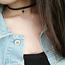 Women's Choker Necklaces Jewelry Triangle Shape Leather Alloy Basic Dangling Style Pendant Euramerican Fashion Personalized Simple Style