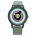 Men's Fashion Watch Quartz PU Band Brown Green Grey Khaki