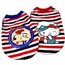 Hund T-shirt Hundekleidung Lässig/Alltäglich Kartoon Rot Blau