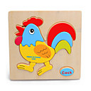 Jigsaw Puzzles Jigsaw Puzzle Building Blocks DIY Toys Chicken Wooden