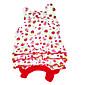 Dog Dress Red Dog Clothes Summer Fruit