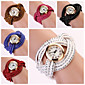 Women's Round Dial Two-layer Band Quartz Analog Fashion Bracelet Watch (Assorted Color) Cool Watches Unique Watches
