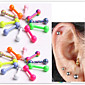Fashion Stainless Steel   Pyramid Earrings Ring Body Jewelry Piercing(Random Color)