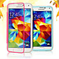 Touch Screen Soft Edge Transparent Acrylic Free Flip TPU for Samsung Galaxy S5 I9600 (Assorted Colors)