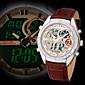 Fashion Racing Style Men Sport Wrist Quartz Watch Strap Leather Band Date Day Calendar LCD Alarm Chronograph Waterproof