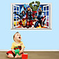 3D Wall Stickers Wall Decals Style Revenge Alliance PVC Wall Stickers