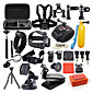 42 in 1 Outdoor Sports Accessories Kit for GoPro Hero 4s 4 3+ 3 2 1 Black Silver with Large Bag