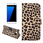 Leopard Print Style With Plug-in Card Wallet Holder Case For Galaxy S7(G9300)/S7 edge(G9350) (Assorted Color)