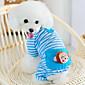 Cat / Dog Clothes/Jumpsuit / Pajamas Yellow / Blue / Pink Dog Clothes Winter / Spring/Fall Cartoon Cute