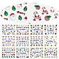 12 Designs Nail Art 3D Christmas Glitter Stickers Santa Claus Christmas Tree Image Nail Decoration BLE939D-950D