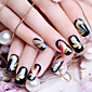The Color Of Black Ultra-thin Waterproof Environmental Nail Stickers All Fine 1Pcs